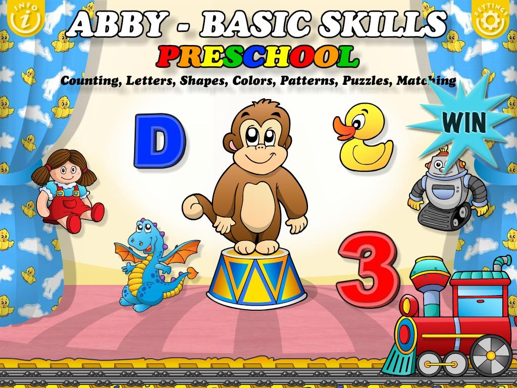 Worksheet Preschool Basic Skills a chance to win abby basic skills preschool for ipad
