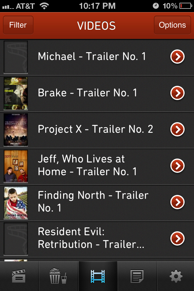 The Moviefone Movies App For Iphone Goes Through A Well