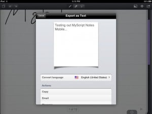 MyScript Notes Mobile by Vision Objects screenshot