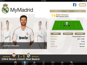 MyMadrid HD by Real Madrid C.F. screenshot
