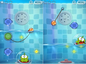 Cut the Rope: Experiments verison 1.2 (iPhone 4) - Bath Time Levels