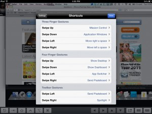 Screens VNC version 2.0 (iPad 2) - Custom Gestures