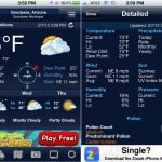WeatherBug version 2.0 (iPhone 4) - Home and Detailed