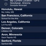 WeatherBug version 2.0 (iPhone 4) - Locations