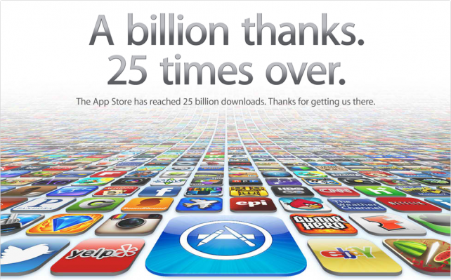 25 billion Apps downloaded