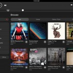 MOG for iPad has a great looking interface and provides a way for MOG subscribers to get streaming music on their iPad.