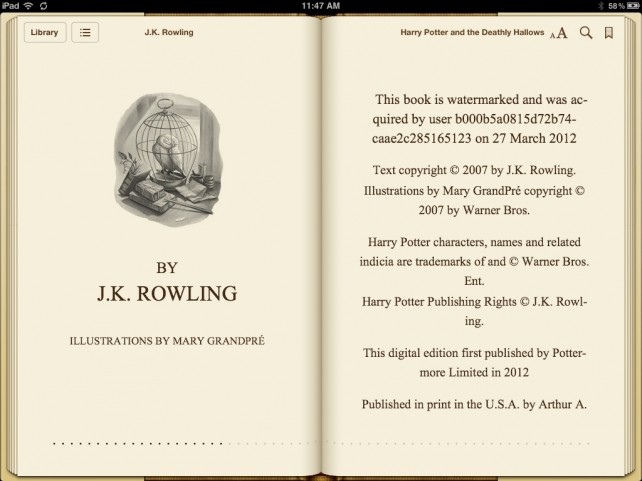 Harry Potter On iBooks