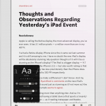 Readability has a gorgeous reading mode with easy access to appearance settings.
