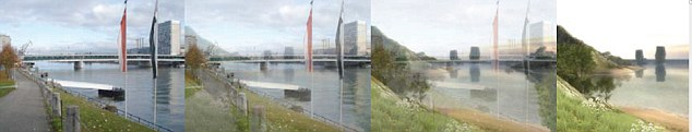 The landscape changes as the augmented reality takes over.