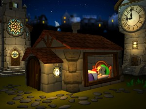 Bean Bag Kids present Pinocchio (iPad 2) - Night Lamp