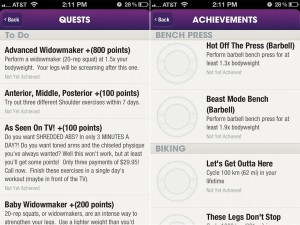 Fitocracy (iPhone 4) - Quests and Achievements