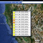 Google Earth version 6.2 (iPad 2) - Earthquakes