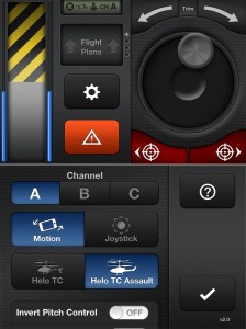 Helo TC version 2.0 (iPhone 4) - Controls and Settings