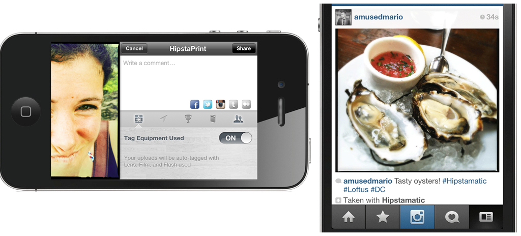 Instagram and Hipstamatic Join Forces