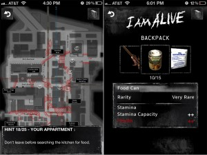 I Am Alive Companion (iPhone 4) - Stree Map and Backpack