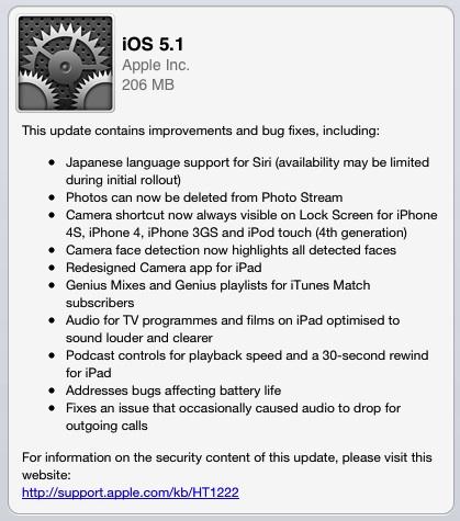 iOS 5.1 a iTunes 10.6 jsou venku