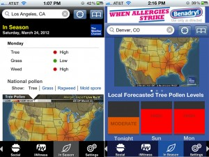 The Weather Channel (iPhone 4) - In-Season (Pollen)