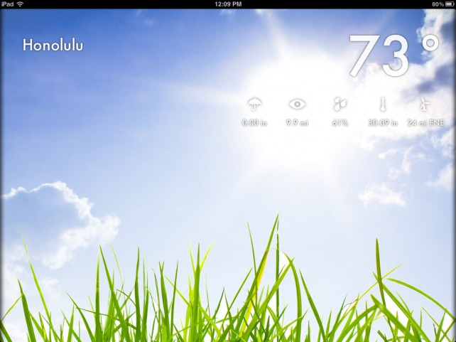 Let The Retina-Ready Weather 2x For iPad Brighten Your Day, And Enter To Win A Copy