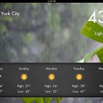 Weather 2x (iPad 2) - Five Day Forecast