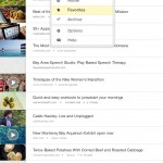 The main menu for accessing your Home, Favorites, Archive, and Options.