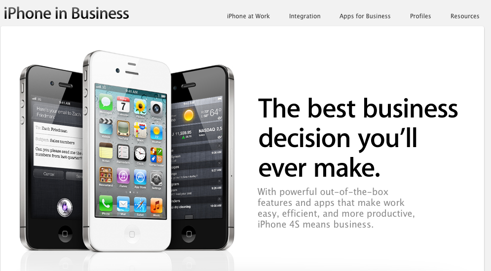 The iPhone and Business