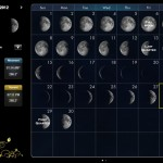 Moon Calendar version 1.1.5 (iPad 2) - Calendar (Landscape)