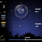 Moon Calendar version 1.1.5 (iPad 2) - Azimuth and Elevation (Landscape)
