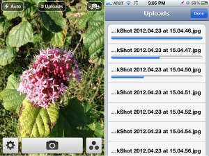 QuickShot with Dropbox version 2.0 (iPhone 4) - Uploading