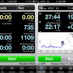 Runmeter version 7.0 (iPhone 4) - Stopwatch Pages