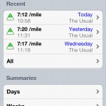 Runmeter version 7.0 (iPhone 4) - History