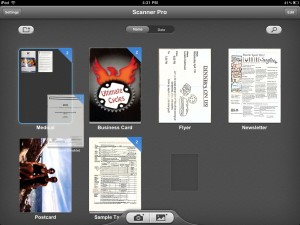 Scanner Pro version 4.0 (iPad 2) - Folders