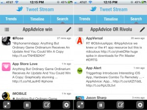 TweetStream version 1.1 (iPhone 4) - Search