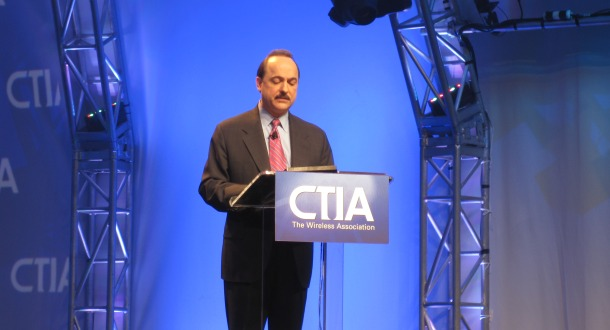 The head of AT&T's mobility, Ralph de la Vega, at the CTIA conference two years ago.