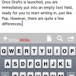 Get in to the app and start writing. Keep track of how much you've written with the word and character count.