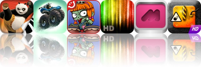 Today's Apps Gone Free: Kung Fu Panda 2 Storybook, MotoHeroz, Zombie Band, And More