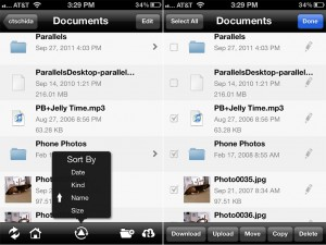 FileExplorer verison 1.2.2 (iPhone 4) - Manage