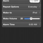 iHome Set (iPhone 4) - Alarm Settings