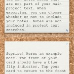 Index Card (iPhone 4) - Notes