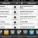 Localscope version 2.3 - Wikipedia and Citysearch (List View)