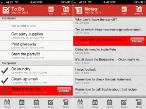 Parker Planner version 1.1 - To Dos and Notes
