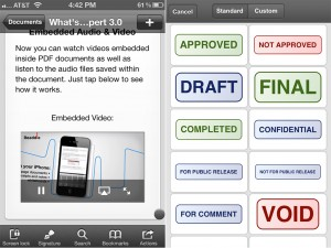 PDF Expert version 3.0 (iPhone 4) - Media and Stamps