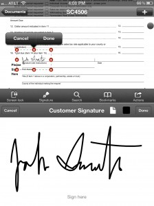 PDF Expert version 3.0 (iPhone 4) - Signatures