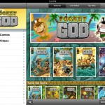 Pocket God Comics version 2.0 (iPad 2) - Featured Titles (Landscape)