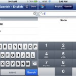 Spanish-English Dictionary and Verbs version 1.4.3 (iPhone 4) - Live Search