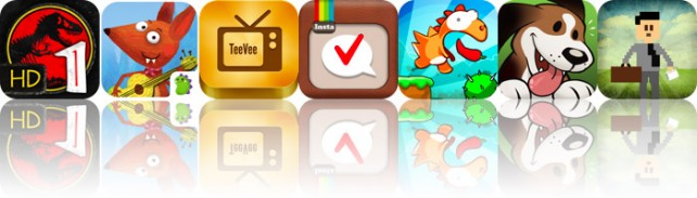 Today's Apps Gone Free: Jurassic Park: The Game 1 HD, Little Fox Music Box, TeeVee And More