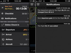 App in the Air version 1.1 - Menu and Notifications