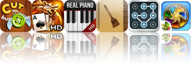 Today's Apps Gone Free: Cut The Buttons, Real Piano Pro, Spring Cleaning And More