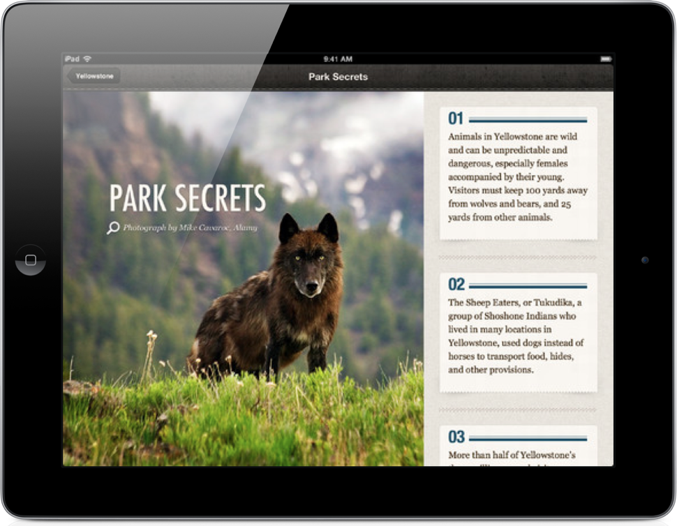 National Parks - iPad