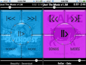 Just The Music version 1.38 (iPhone 4) - Colorful and Customizable