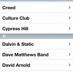 Just The Music version 1.38 (iPhone 4) - Song Selection